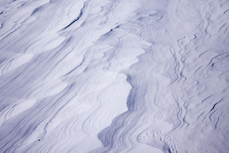 Dérives de neige photo libre de droits