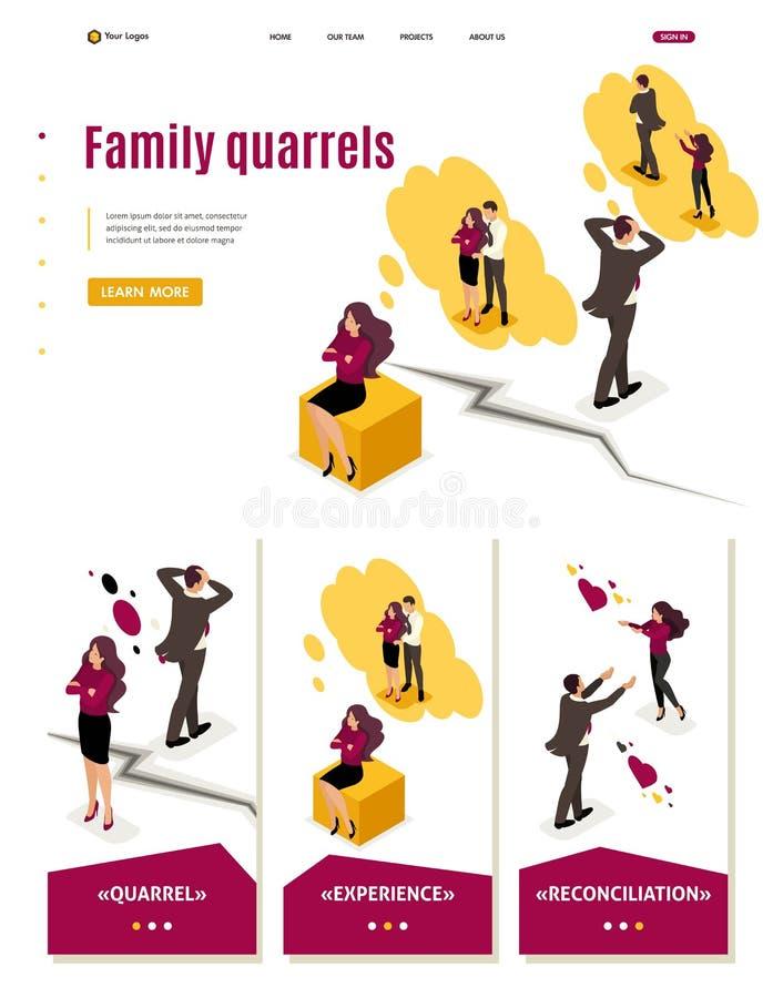 Désaccords et conflit isométriques de famille illustration libre de droits