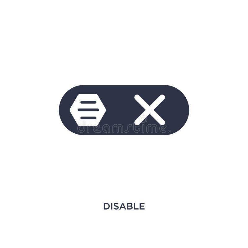 désactivez l'icône sur le fond blanc Illustration simple d'élément de concept d'interface illustration libre de droits