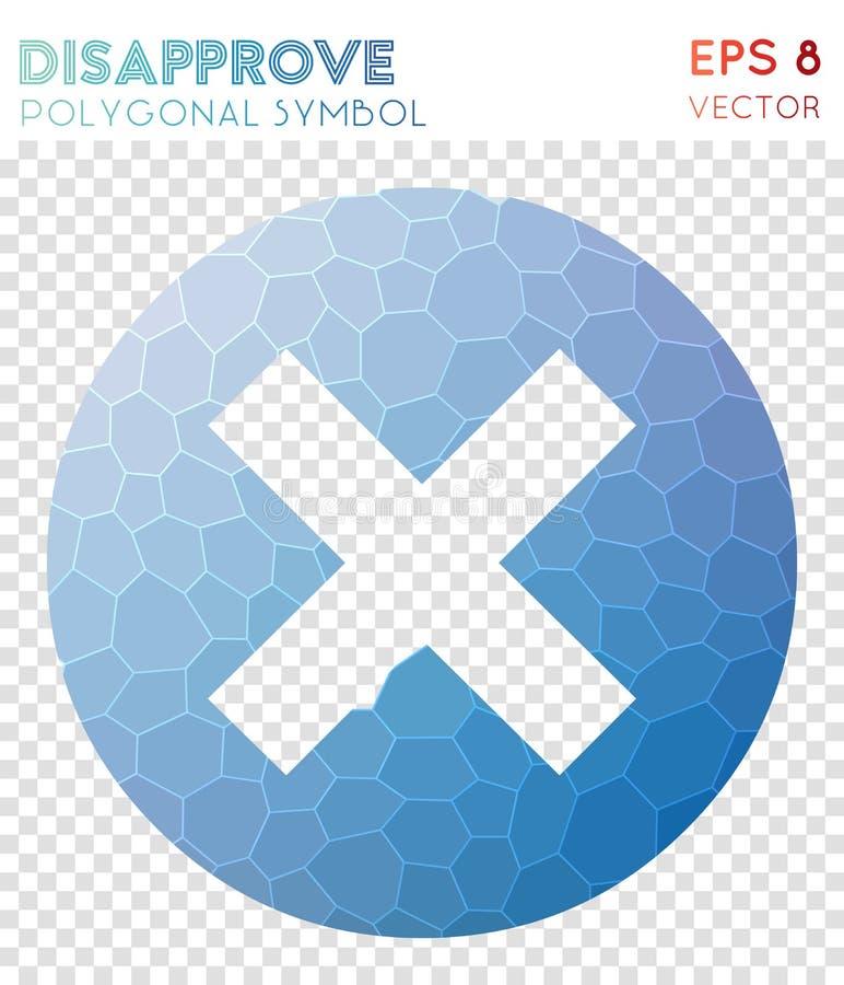 Désapprouvent le symbole polygonal illustration libre de droits