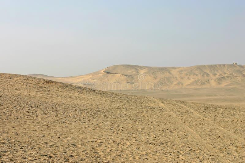 Désert égyptien à Giza photo libre de droits