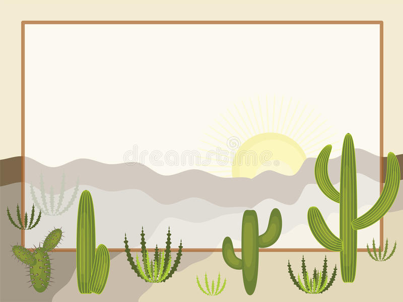 Désert illustration stock