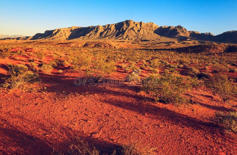 Désert au-dessus de coucher du soleil, Nevada photo stock