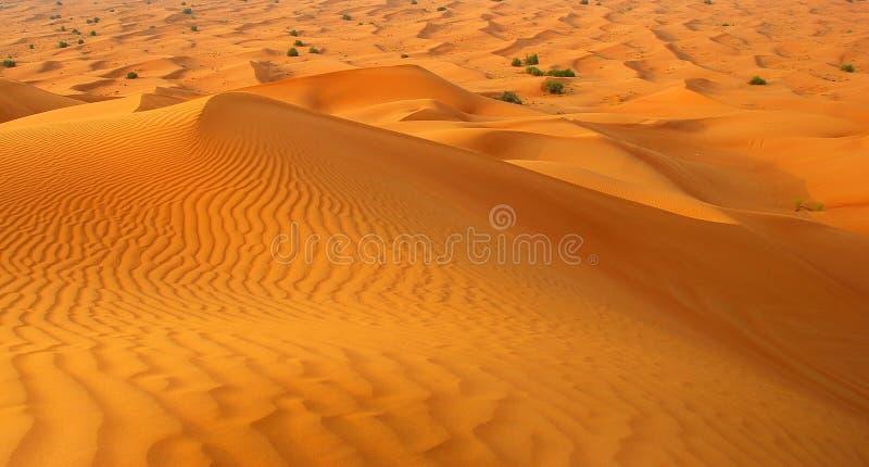 Désert autour de ville Dubaï photographie stock