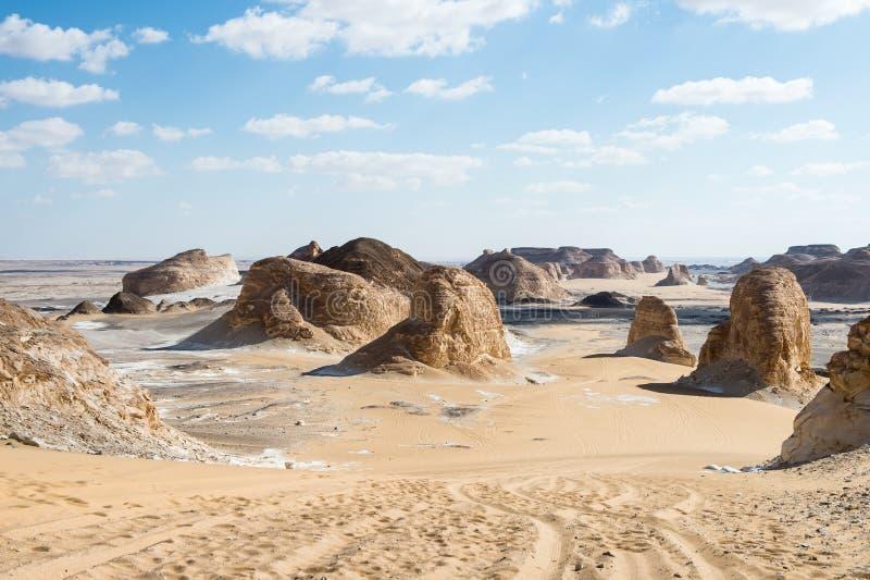 Désert blanc occidental, en Egypte photos libres de droits