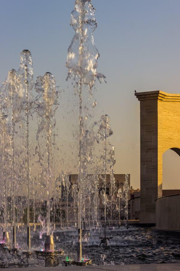 Désert carré du Moyen-Orient d'architecture construisant Deta extérieur images stock