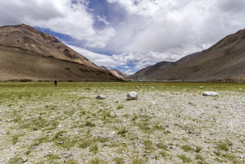 Désert-comme l'horizontal de montagne, Ladakh photographie stock libre de droits