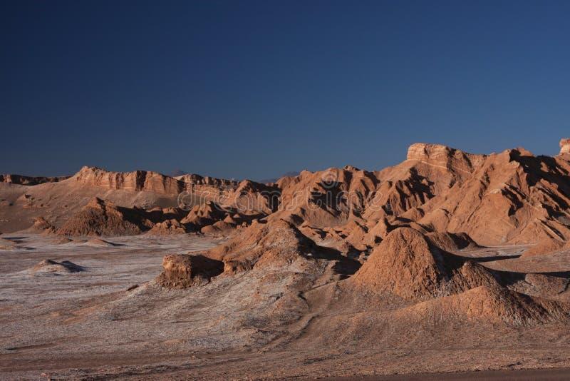 Désert d'Atacama au coucher du soleil image libre de droits