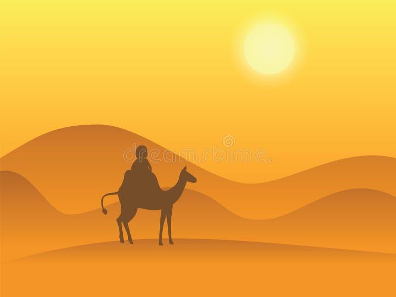 Désert de chameau illustration libre de droits