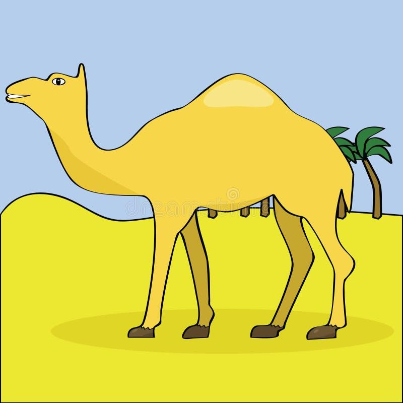 désert de chameau illustration de vecteur