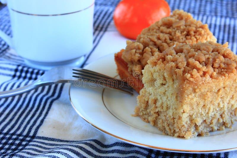 Désert de gâteau de miette de petit déjeuner photographie stock libre de droits