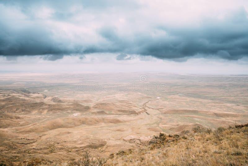 Désert de Gareja, région de Kakheti, la Géorgie Autumn Landscape Of Gareja Desert photographie stock libre de droits
