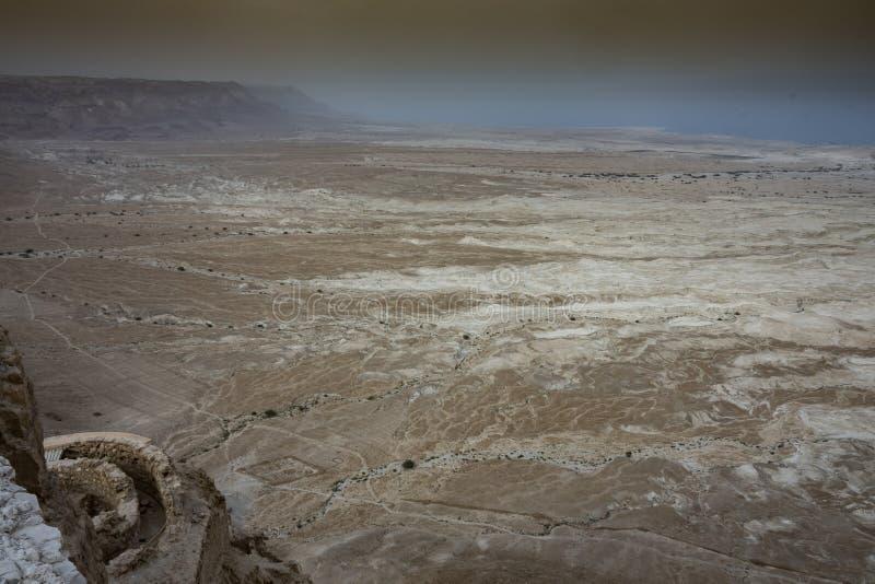 Désert de Judea et côte de la mer morte l'israel photos libres de droits