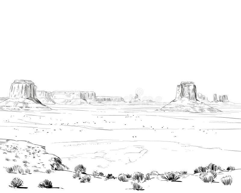 Désert de l'Amérique du Nord Arizona Chihuahuan illustration libre de droits