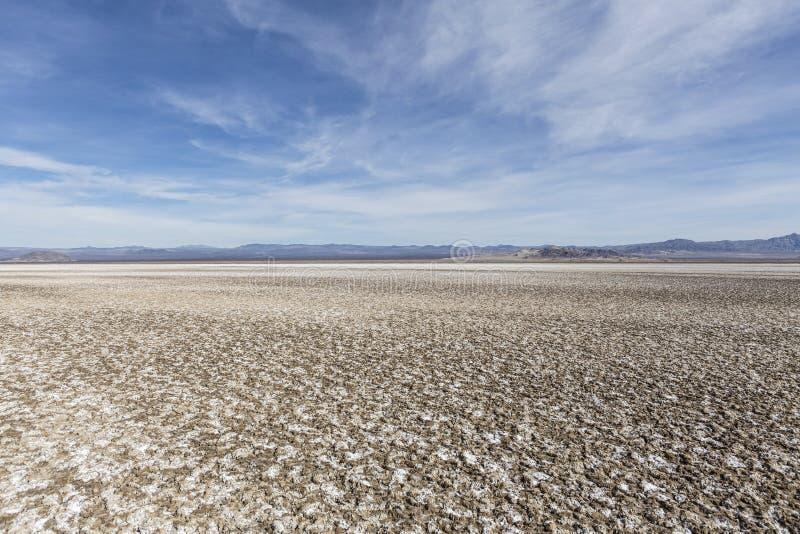 Désert de Mojave d'assèche soda la Californie photo stock