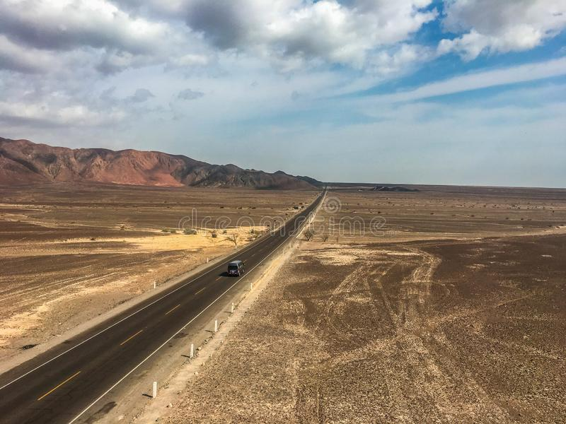 Désert de Nazca chez le Pérou photos libres de droits