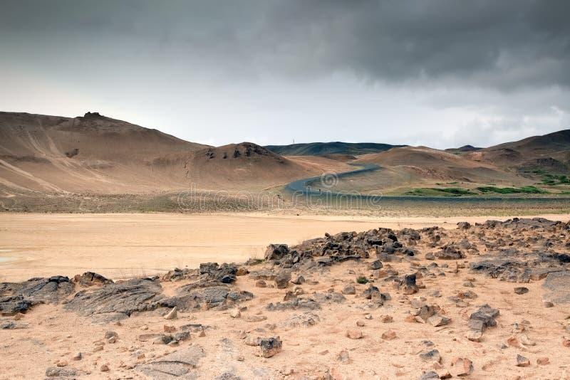 Désert en pierre, Islande photographie stock libre de droits