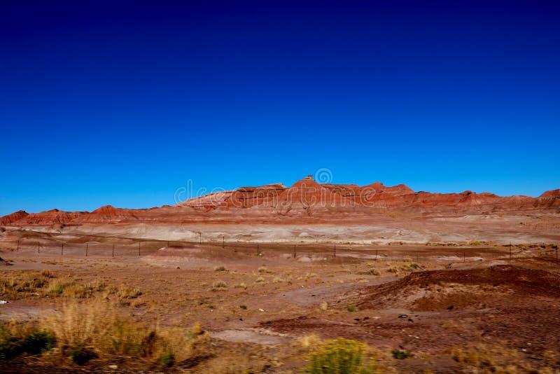 Désert illimité de secteur Montagne rouge Terre rouge l'arizona images stock