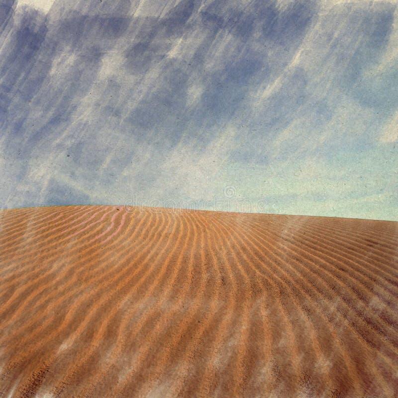 désert, Inde L'aquarelle d'art de Digital sur le papier de vintage a créé b illustration de vecteur