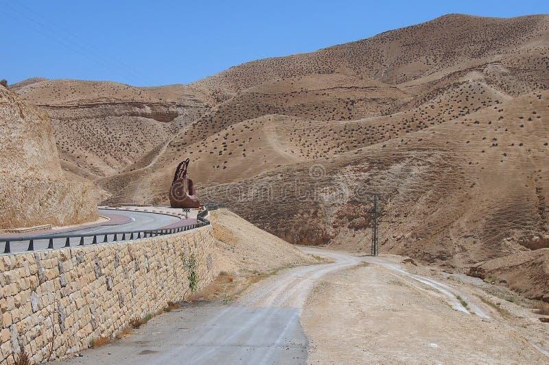 Désert stérile de Judaean, Israël, les Terres Saintes photos libres de droits