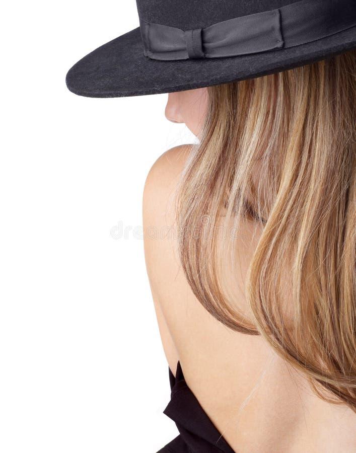 Déshabiller le blong dans le chapeau photos libres de droits