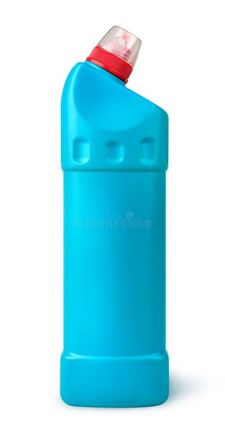 Désinfectant dans une bouteille en plastique image stock