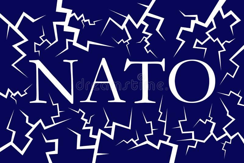 Désintégration, baisse et panne de l'OTAN illustration de vecteur
