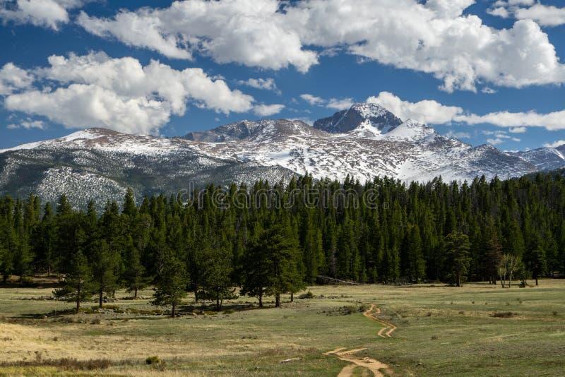 Désire ardemment maximal - le stationnement national de montagne rocheuse photo libre de droits