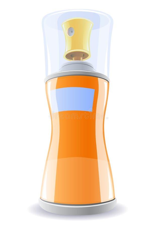 Désodorisant dans la bouteille orange illustration de vecteur
