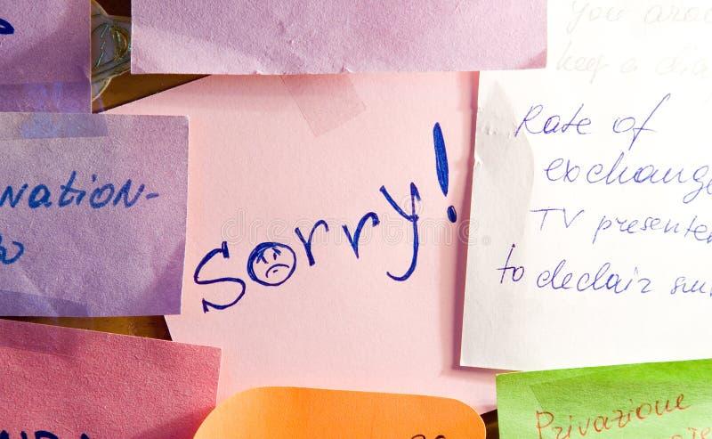 Désolé ! images libres de droits