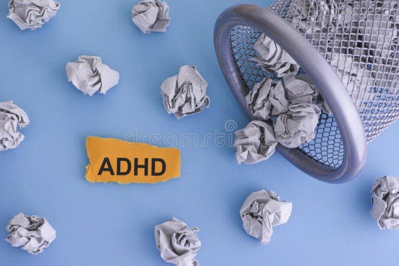 Désordre d'hyperactivité de déficit d'attention d'ADHD photos stock