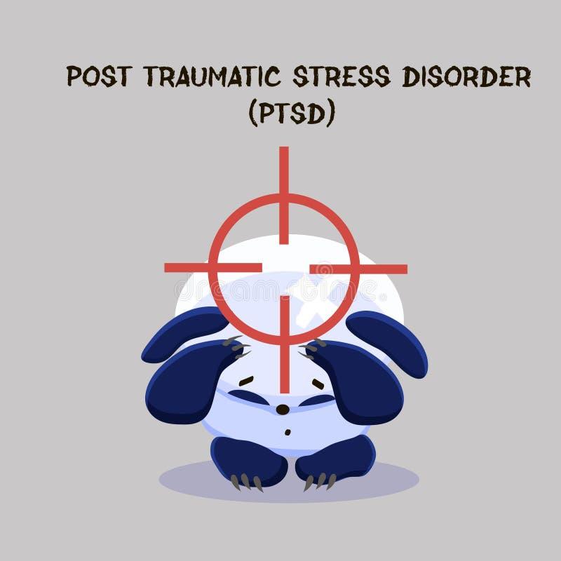 Désordre traumatique d'effort de courrier Problème de santé mentale Peu de SA illustration libre de droits