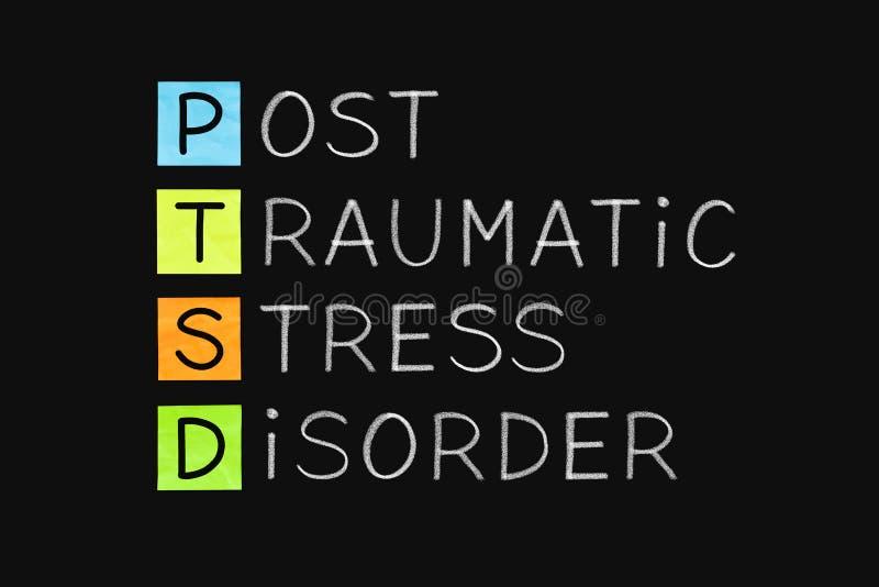 Désordre traumatique PTSD d'effort de courrier illustration de vecteur