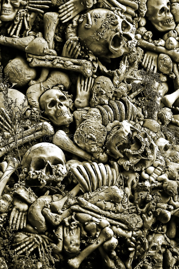 désosse des crânes de veille de la toussaint image stock