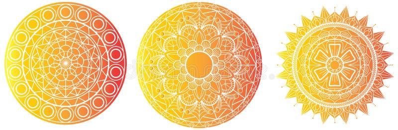 Détail élevé de mandala de Mandala Vector Mandal de fleur de livre de coloriage de calibre floral de page illustration libre de droits