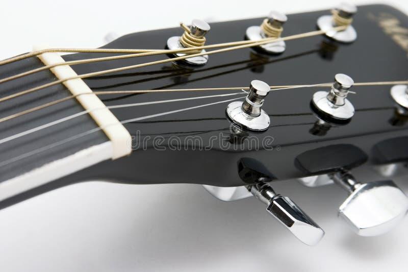 Détail 12 de guitare acoustique image stock