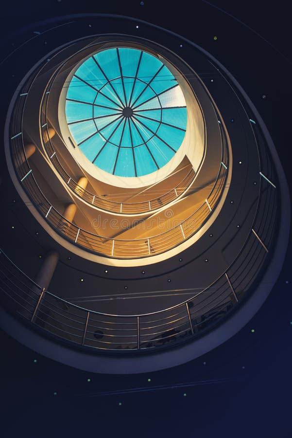 Détail abstrait d'intérieur architectural photographie stock libre de droits