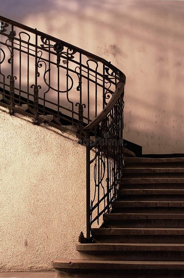 Détail abstrait des escaliers rustiques photographie stock libre de droits