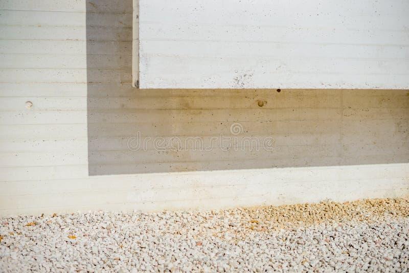 Détail architectural concret moderne de résumé photographie stock