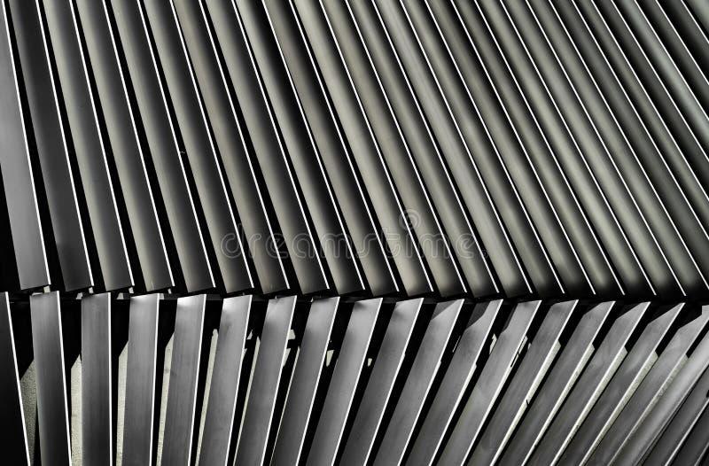 Détail architectural d'auvent en métal photo libre de droits