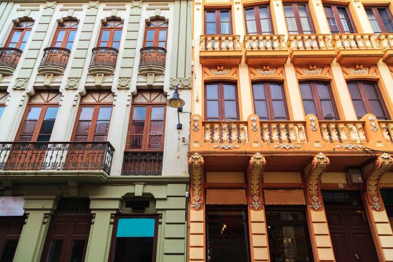 Détail architectural dans la vieille ville de la La Laguna images stock