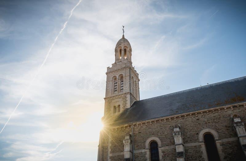 Détail architectural de l'extérieur de l'église de St Croix photographie stock