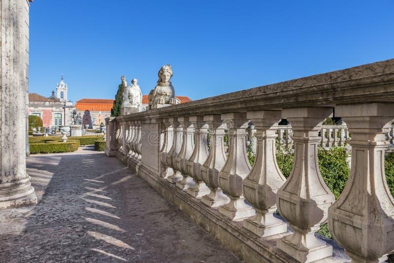 Détail architectural du château Queluz du roi photo libre de droits