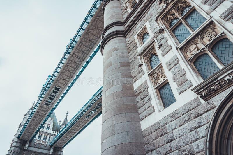 Détail architectural du pont de tour, Londres photo libre de droits