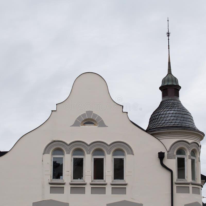 Détail architectural - façade d'un bâtiment d'Art Nouveau photos stock