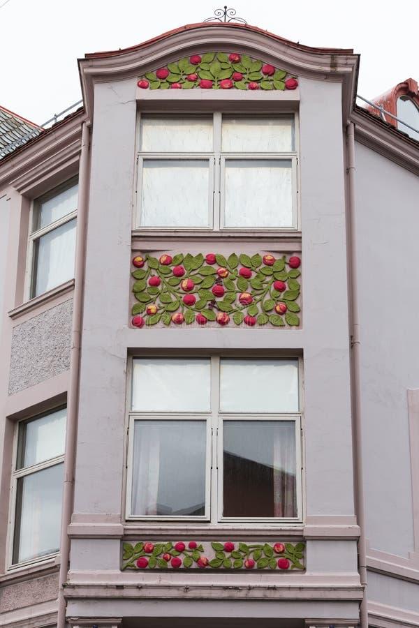 Détail architectural - façade d'un bâtiment d'Art Nouveau photographie stock