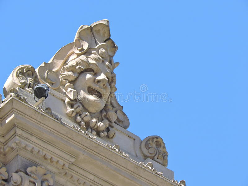 Détail architectural, visage image libre de droits