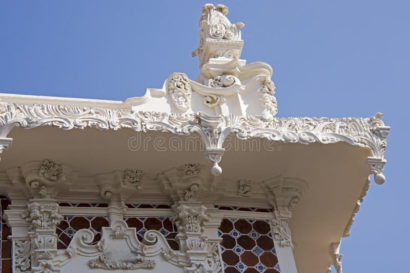 Détail baroque décoratif à Puebla image stock