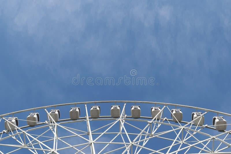 Détail blanc de grande roue photographie stock