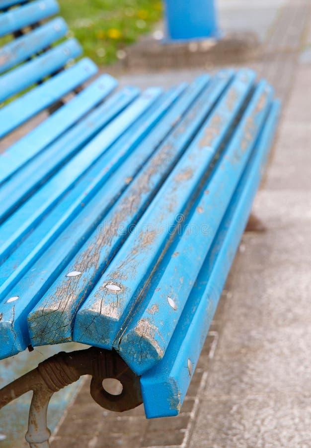 Détail bleu de banc image libre de droits